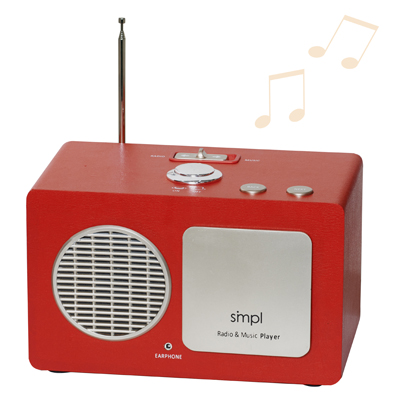 Easy to Use Radio and Music Player for Seniors